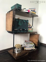 BETTON Walnut Wood Bookshelf