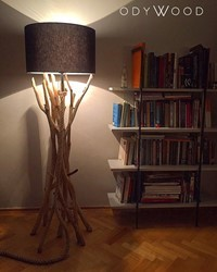 The Dark Wood Lamp