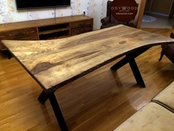 walnut-log-desk-no3-metal-cross-leg