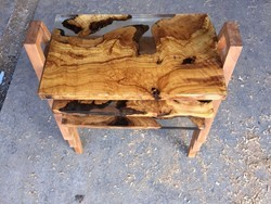 MAU Epoxy Resin Olive Wood Coffee Table Set