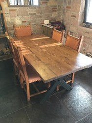Natural Spruce Wood Dining Table