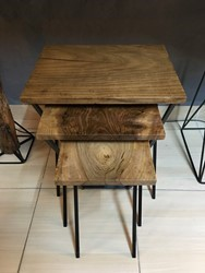 Walx Walnut Wood Side Table