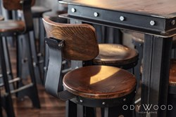 Bridge Industrial Bar Stool
