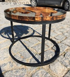 Fayr Round Epoxy Resin Coffee Table