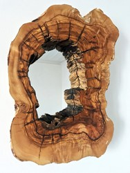 Deep Live Edge Wood Mirror No1