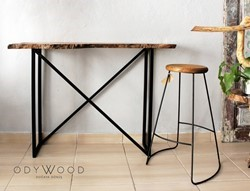 Epoxy Bistro Console Table